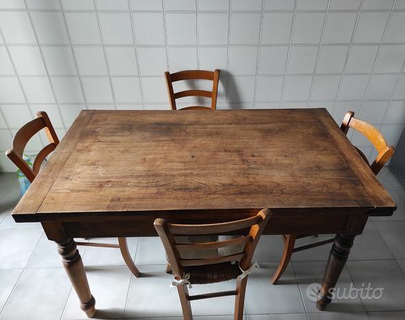 Tavolo in ciliegio piemontese allungabile