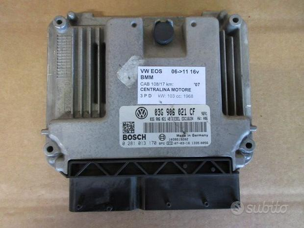 Centralina motore VOLKSWAGEN EOS 2.0 D 2007
