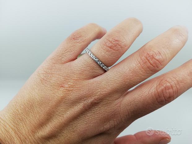 Anello Veretta in Oro 18 kt e Diamanti 0,52 Ct