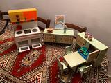 Cucina sala da pranzo bambole vintage anni 60-70'