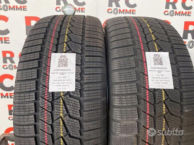 2 GOMME NUOVE 245/45 r 20 103 v continental