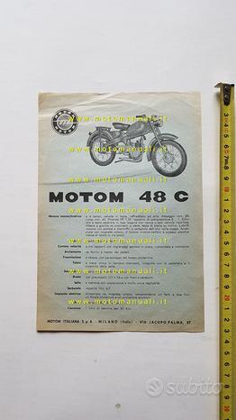 Motom 48 C anni 50 depliant originale ciclomotore