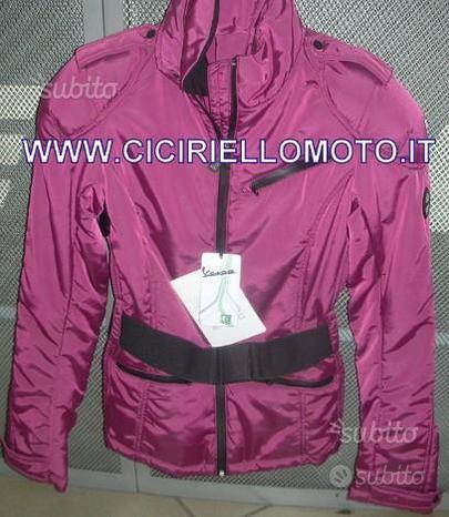 Giubbotto nylon vespa donna ciliegia taglia xs xl