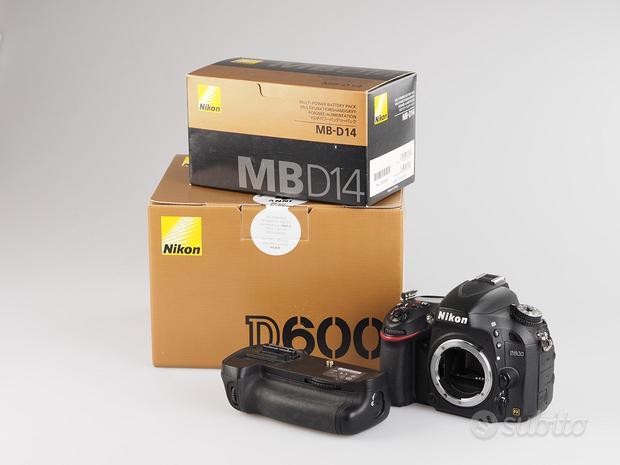 Nikon d600 body + battery grip mb-d14 fotolandia