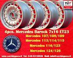 4 Cerchi Mercedes R107 116 124 126 7x16 Barock