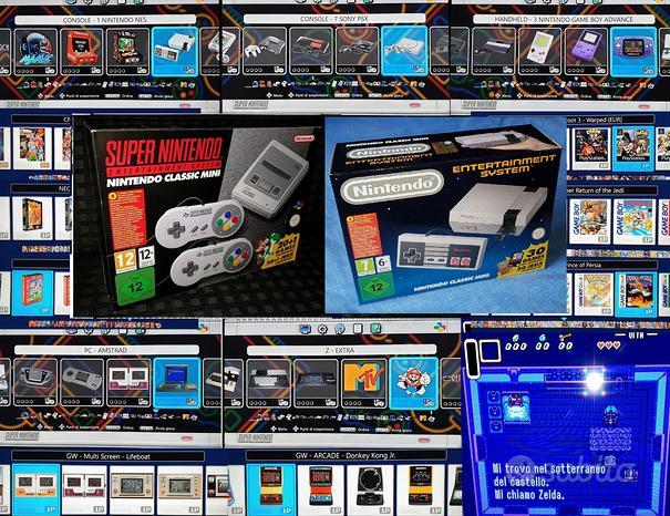 Console mini nes snes originali con 1800 giochi