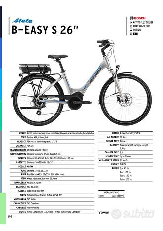 E-bike atala b-easy s 26