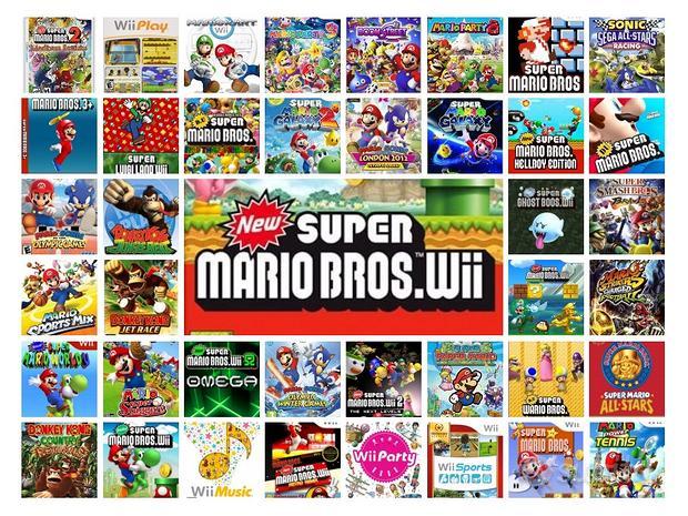 Nintendo wii con 45 giochi Mario Sonic Donkey kong