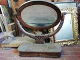 Antico psiche, specchio, specchiera da restaurare