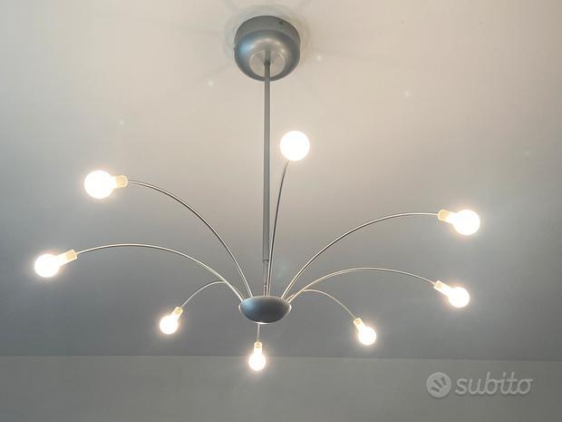 Lampadario da camera con 8 punti luce
