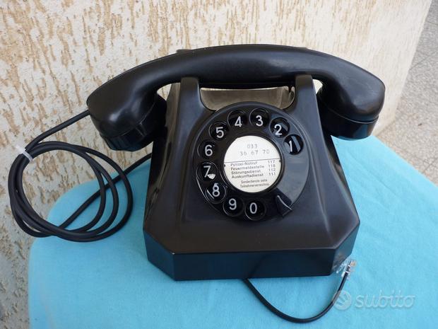 Telefono tavolo weidmann in bachelite anni 50 vint