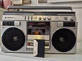 Stereo radio vintage boombox
