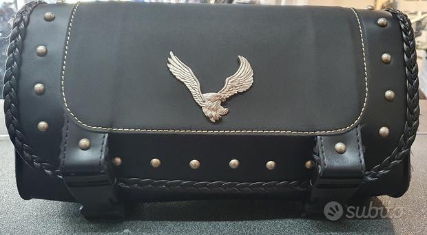 Borsa borsello usato per manubrio moto custom