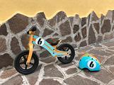 Bicicletta legno senza pedali Rebel Kids + casco