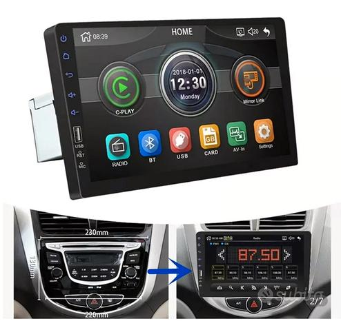 Stereo touch 9 pollici auto Bluetooth