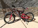 "IBK Bici MTB 20"" biammortizzata 6 Vel. Shimano"
