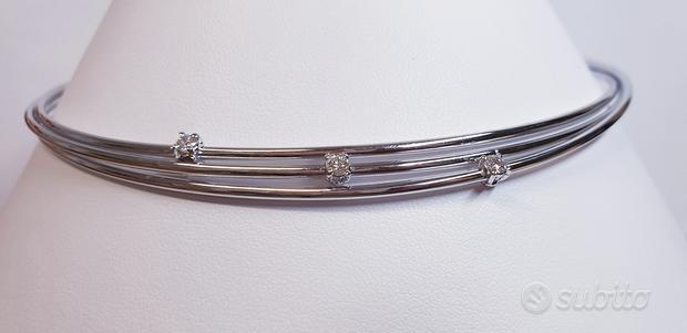 Collier Recarlo in Oro Bianco con Diamanti 0,30 CT