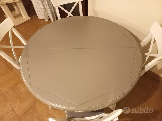 Tavolo rotondo shabby + tavolino