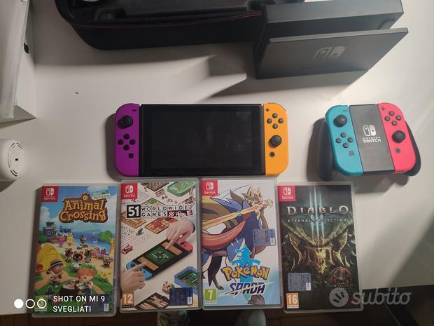 Nintendo Switch +4giochi e accessori