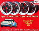 Set cerchi 7x16 + 9x16 Porsche 964 911 SC Turbo