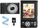 CLUINIGO Fotocamera digitale 1080P HD 32GB SD 16x