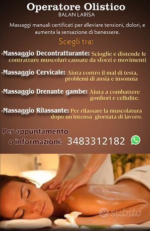 Operatore olistico - massaggio benessere