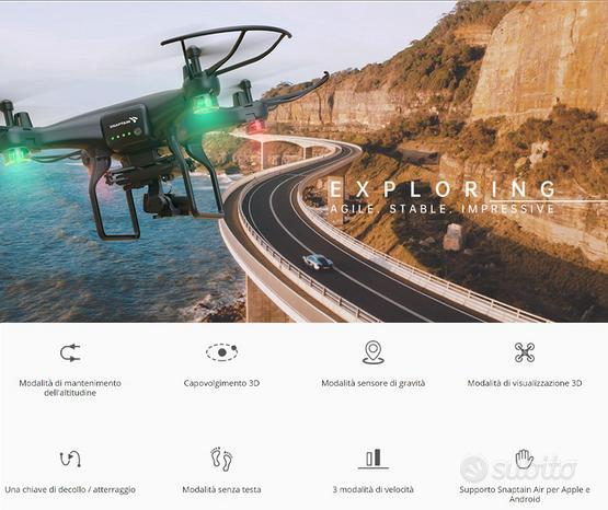 Drone alta definizione con gimbal a 2 assi