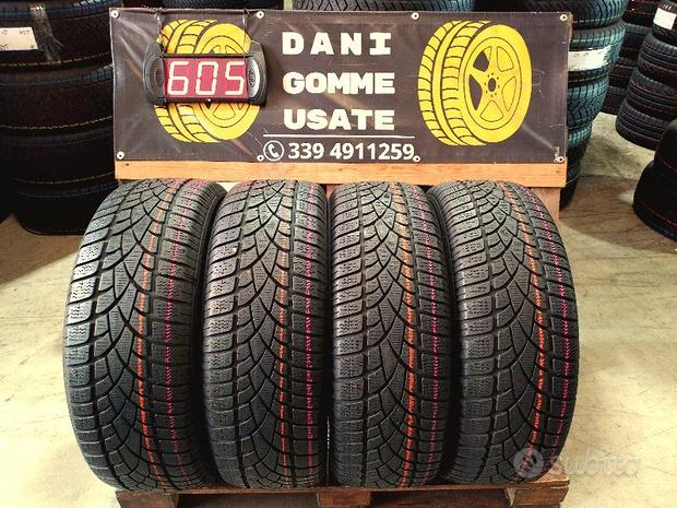 4 Gomme Usate 235 55 18 INVERNALI 85% DUNLOP