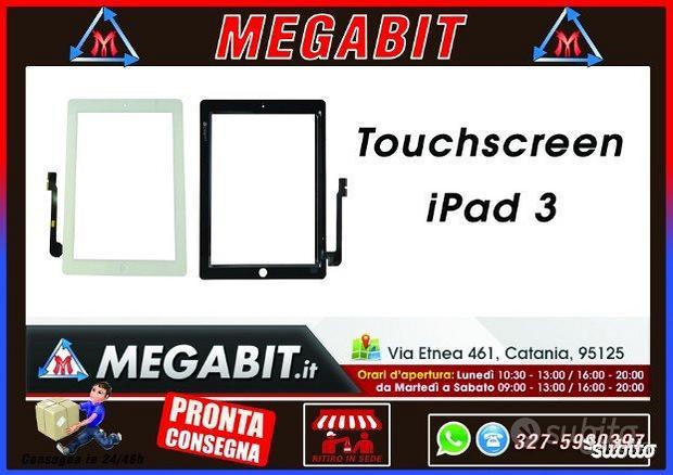 Touchscreen per IPAD 3 BIANCO,NERO SUPER QUALITA'