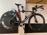 Bicicletta crono tg. S whistle lenticolare ultegra