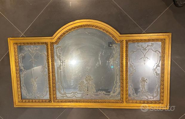 Specchi antichi finestre oro intarsiati