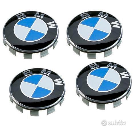 4 coprimozzo compatibili BMW diametro esterno 68mm