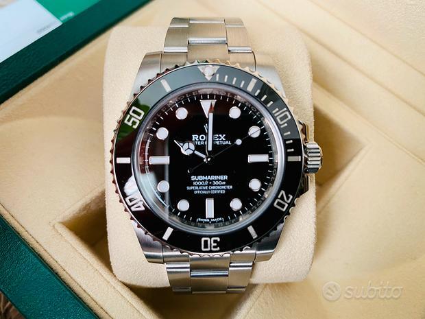 Rolex Submariner No Data 2019 Garanzia Ufficiale