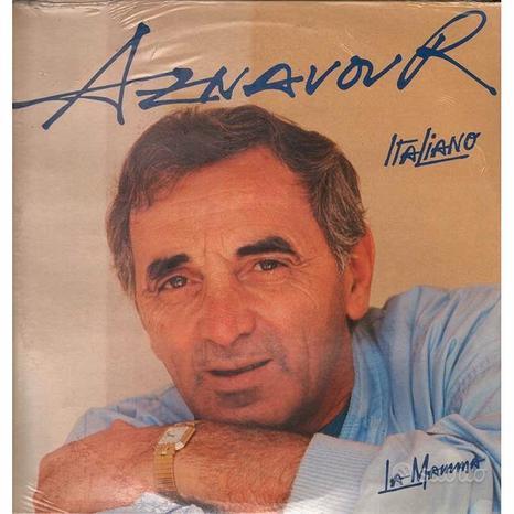 Charles Aznavour Lp in Italiano La Mamma