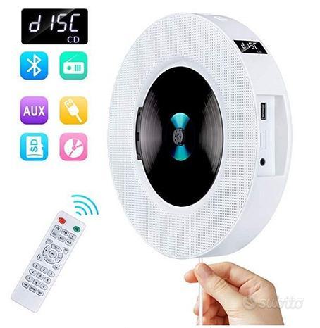 Lettore CD Portatile Parete Bluetooth Telecomando