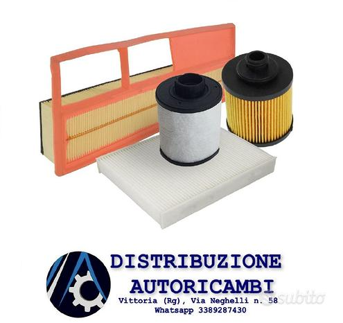 Kit 4 filtri fiat grande punto 1.3 mtj (purflux)