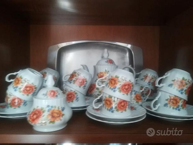 Servizio da the in porcellana Bavaria a fiori