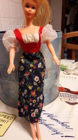 Abiti Barbie vintage anni 70 vestito campagna