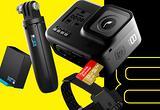 GoPro 8 BLACK bundle 2 batterie shorty fascia 3WAY