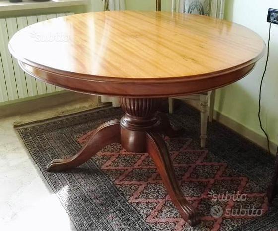 Tavolo legno antico (tondo / rotondo)