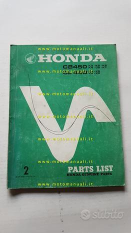 HONDA CB 450- CL 450 K3\K7 1975 catalogo ricambi