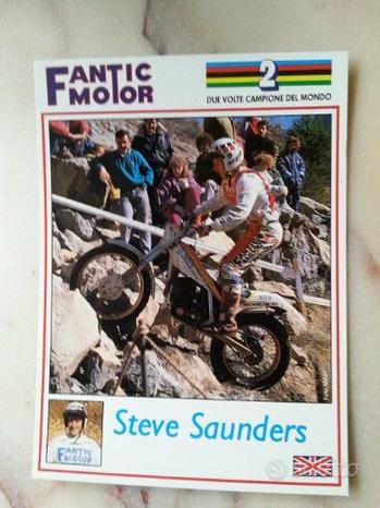 Fantic Motor Trial Steve Saunders cartolina epoca