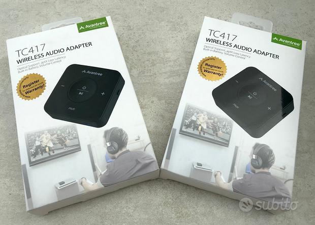 2 x Adattatore Audio Bluetooth bassa Latenza