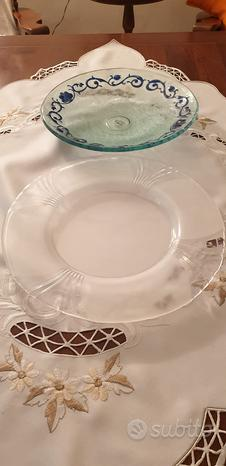 Centro tavola piatto trasparente e opaco