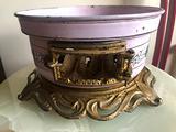 Antico Braciere smaltato in metallo