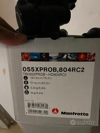 Treppiedi Manfrotto 055XPROB kit completo di testa
