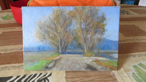 Dipinto ad olio su tela paesaggio di Piero Tonfoni