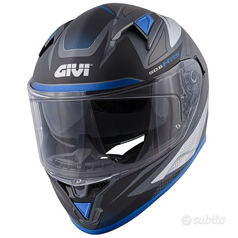 Casco integrale moto givi h506 blu doppia visiera