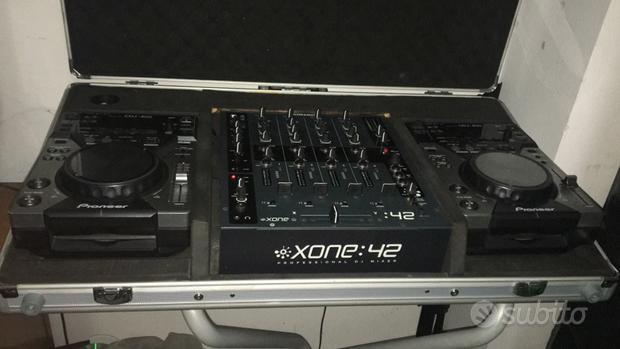 Consolle cdj 400 Pioneer , mixer Allen & Heat 42