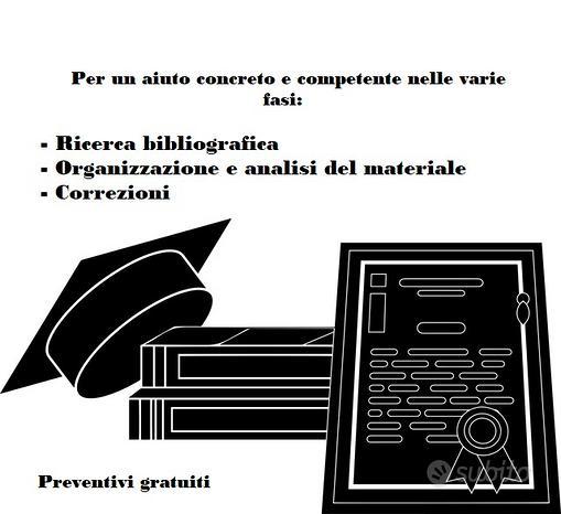 Consulenza ed elaborazione tesi di laurea